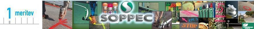 Barva za označevanje in opozorila markiranje Soppec