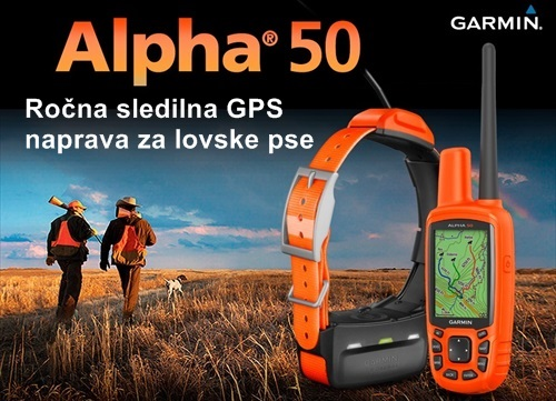 Alpha 50 slrdilna naprava za lovske pse Garmin pohodna GPS navigacija