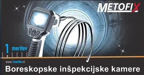 Boreskopska inspekcijska kamera pregled instalacij cevi vodovod kabnalizacija klima