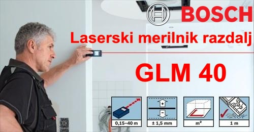 BOSCH GLM40 ročni laserski meter