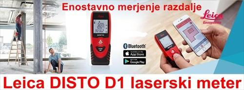 Laserski meter Leica DISTO D1 merjenje z roke