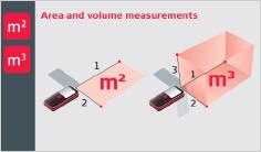 Leica DISTO X3 - merjenje površine in prostornine