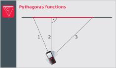 Leica DISTO X3 - Funkcija pitagora