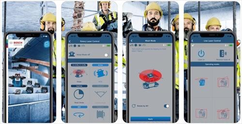 BOSCH GRL 600CHV Professionalnotranji laserski nivelir Aplikacija za telefon