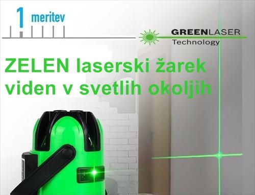 Zelen laserski zarek linijski laser nivelir