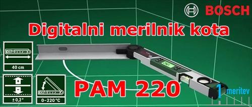 BOSCH PAM220 digitalni merilnik kota kotomer