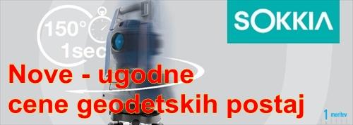 Nove cene geodetskih postaj SOKKIA