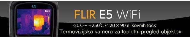 Toplotna kamera FLIR E5 WiFi Termovizijska kamera