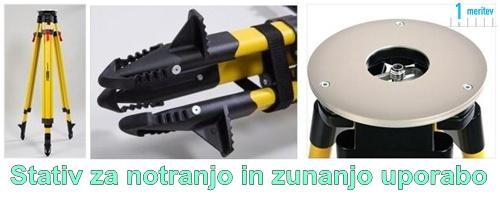 Stativ za laser nivelir za notranjo in zunanjo uporabo
