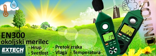 Merilec Hrupa Svetlobe in Temperature EXTECH EN300