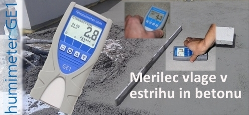 Merlec vlage v estihu ali betonu Humimeter
