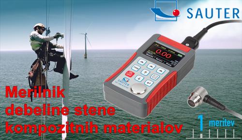 SAUTER TO-EE merilnik stene kompozitnih materialov karbon PVC