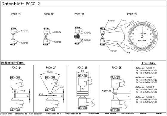 Merilna ura POCO 2K tehniđka risba