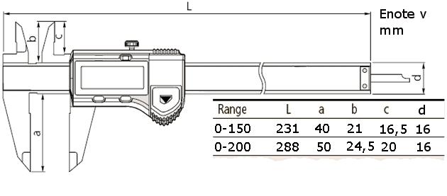 Digitalno pomično merilo MITUTOYO 500-181-20
