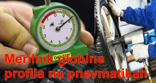 Merilnik globine profila na pnevmatikah zimskih letnih
